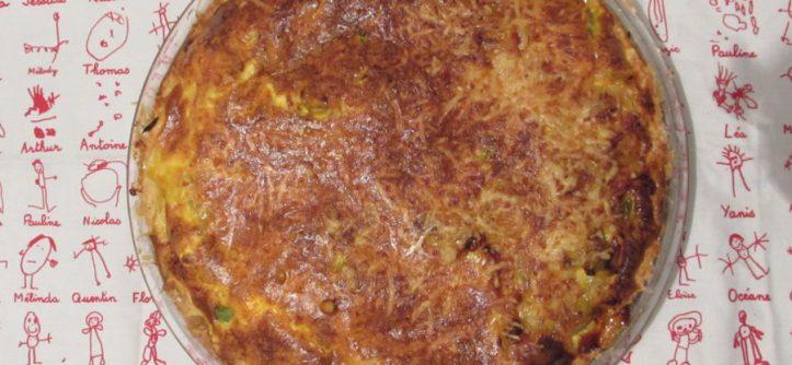 Recette d'une tarte salée aux tomates vertes